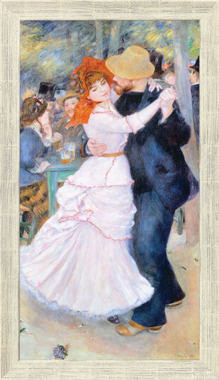 "Auguste Renoir: Painting ""Dance in Bougival"" (1883) in a frame"