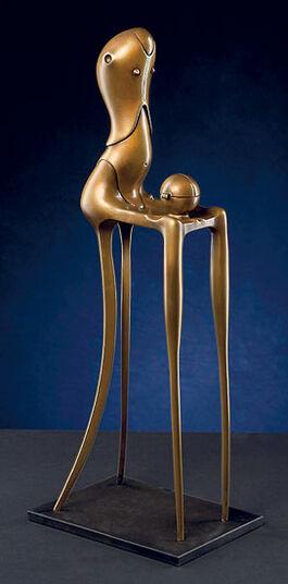 """Paul Wunderlich: Sculpture """"Chairman"""", Bronze"""