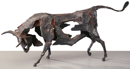 "Dieter Finke: Sculpture ""Bull"" (1995), Bronze"