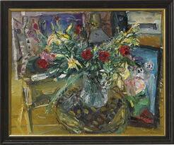 """Bild """"Atelierstillleben mit Blumenbouquet"""" (1992) (Unikat)"""