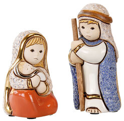 "Crib Sculptures ""Mary & Josepf"", Porcelain"