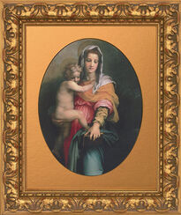 "Bild ""Mariä Himmelfahrt"" (sog. ""Harpien-Madonna"") (1517), gerahmt"