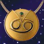 "Zodiac Necklace ""Cancer"" (22.06-22.07) With Lucky Stone Aventurine"
