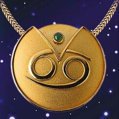 "Zodiac Necklace ""Cancer"" (22.06-22.07) With Lucky Stone Aventurine"