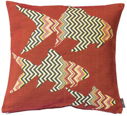 "Cushion Cover ""Zigzag Fish"""