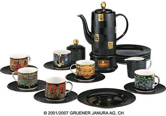 Friedensreich Hundertwasser: 22-Part Coffee Set