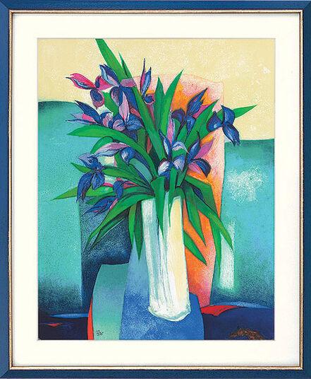 """Claude Gaveau: Bild """"Bouquet d'iris"""" (1999), ungerahmt"""