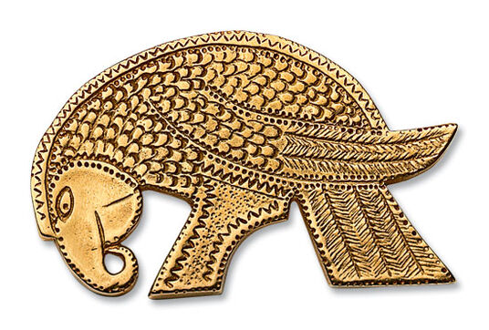 "Gold eagle brooch iin the form of ""Shield of Ischl"", sterling silver gold plated"