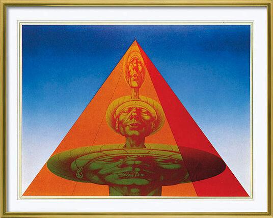 "Rudolf Hausner: Bild ""Adams Pyramide"", gerahmt"