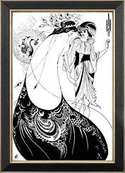 "Bild ""The Peacock Skirt"" (Das Pfauenkleid, 1894), gerahmt"