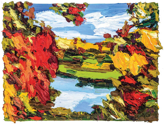 "Ben Kamili: Bild ""Herbstfarben 1"" (2015) (Unikat)"