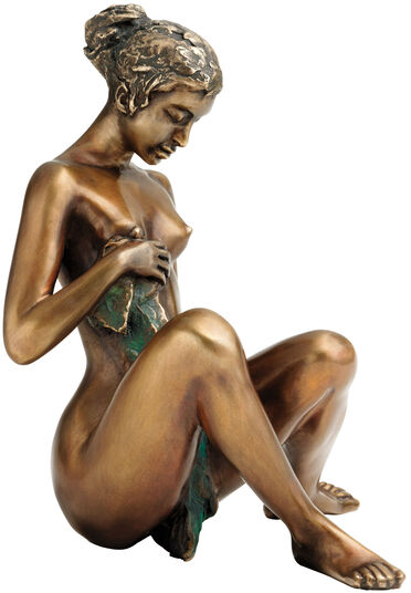 "Erwin A. Schinzel: Sculpture ""Bathing Sketch"", bronze"