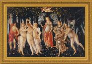 """Painting """"Spring (Primavera)"""" (1477), Framed"""