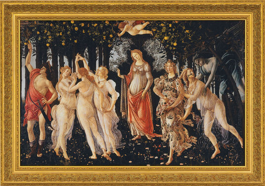 "Sandro Botticelli: Bild ""Frühling (Primavera)"" (1477), gerahmt"