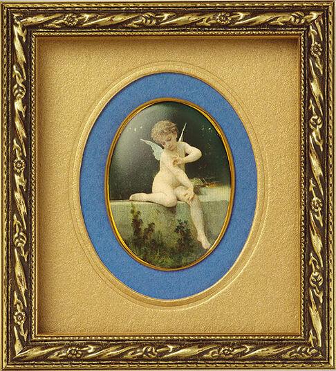 "Miniature porcelain picture ""Butterfly L'amour"""