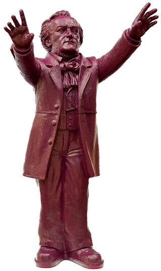 "Ottmar Hörl: Skulptur ""Richard Wagner"", unsignierte Version purpurviolett"