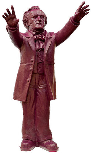 "Ottmar Hörl: Sculpture ""Richard Wagner"", Signed Version Purple"