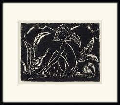 """Bild """"Mädchen zwischen Blattpflanzen"""" (1912)"""