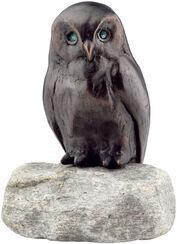 "Garden sculpture ""Owl"", copper on stone"