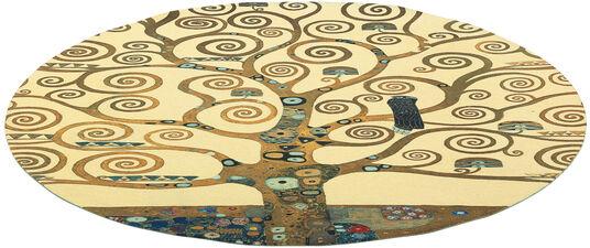 """Gustav Klimt: Teppich """"Lebensbaum"""" (rund, Ø 150 cm)"""