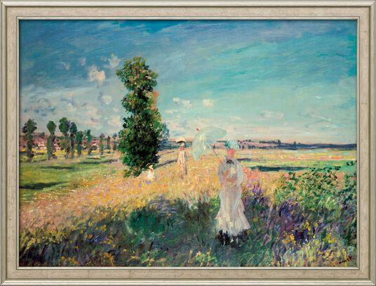 """Claude Monet: Bild """"La Promenade (Der Spaziergang, Argenteuil)"""" (1875), gerahmt"""