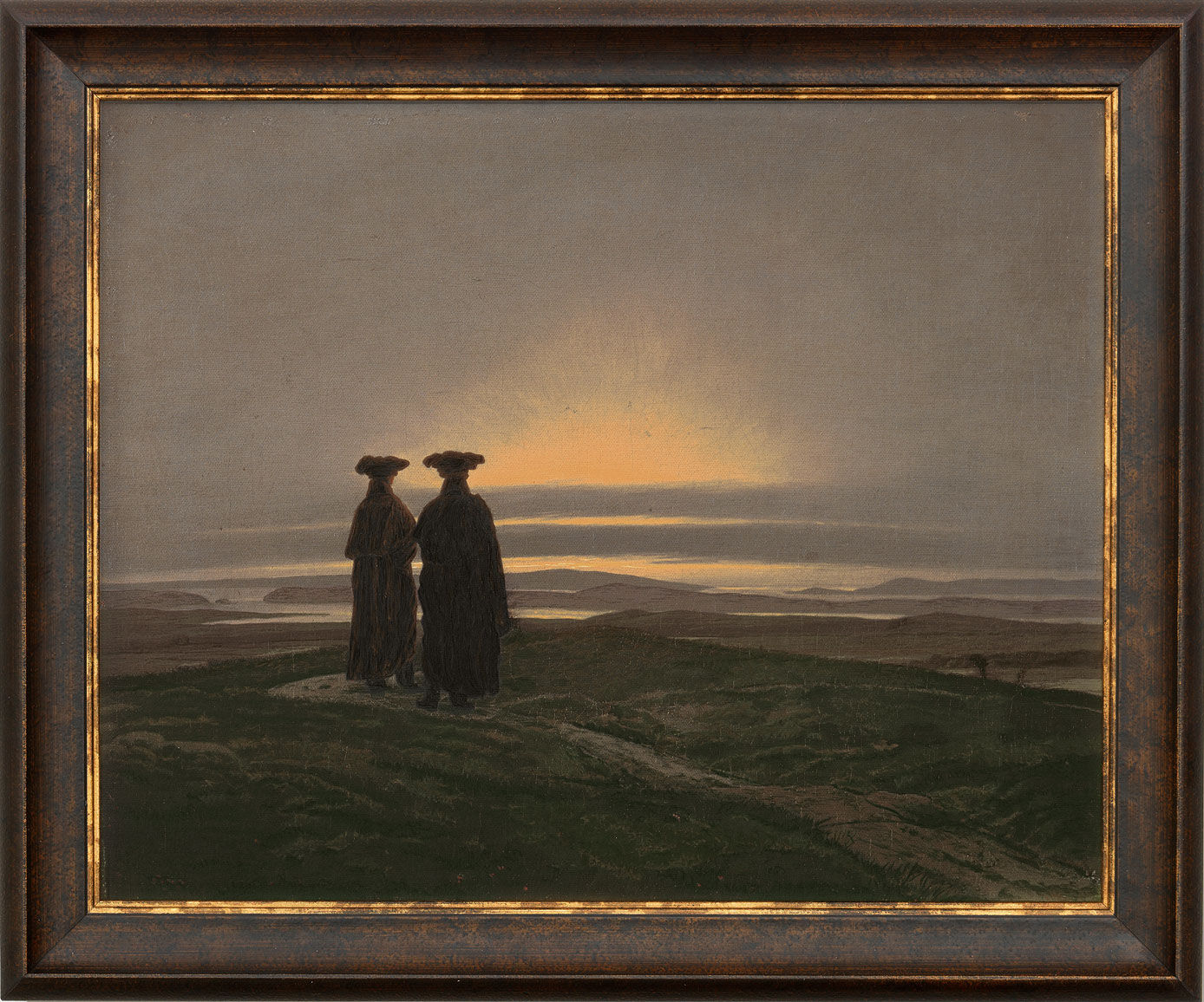 caspar david friedrich bild sonnenuntergang die br der. Black Bedroom Furniture Sets. Home Design Ideas