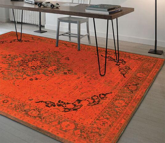 "Ulrike Broermann: Teppich ""Baio"" (170 x 240 cm), orange Version"