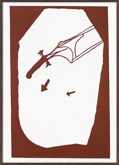 """Joseph Beuys: Bild """"Elch in der Strömung"""" (1984)"""