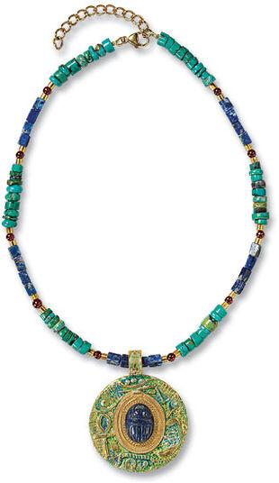 "Petra Waszak: Necklace ""Scarab"""
