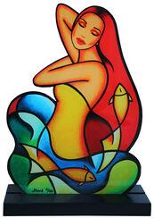 """Sculpture """"Goldfisch"""", Acrylic Glass"""