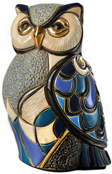 "Keramikfigur ""Blaue Eule"""