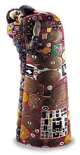 "Ed van Rosmalen: Sculpture ""The fulfillment"" - by Gustav Klimt"