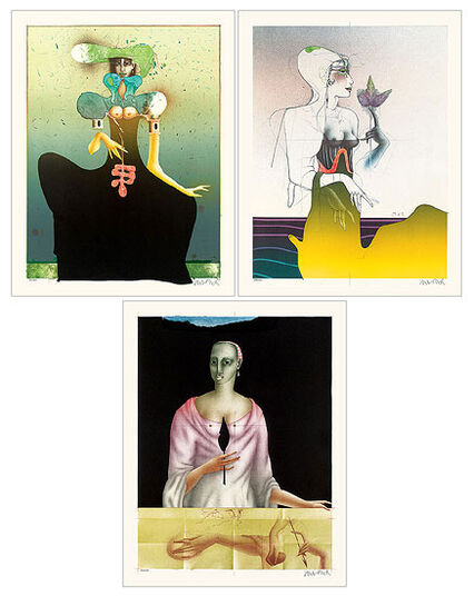 Paul Wunderlich: Sequence of paintings 'The Three Graces: Thalia, Euphrosyne and Aglaea'