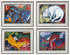 Four Animal Paintings in Set