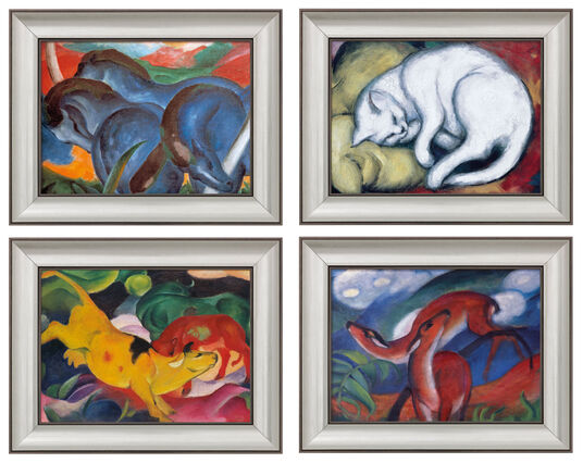 Franz Marc: Vier Tierbilder im Set