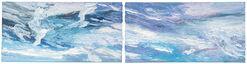 "2-teiliges Bild ""Himmel"" (2015) (Original / Unikat), ungerahmt"