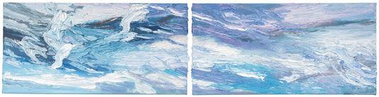 "Ben Kamili: 2-teiliges Bild ""Himmel"" (2015) (Original / Unikat), ungerahmt"