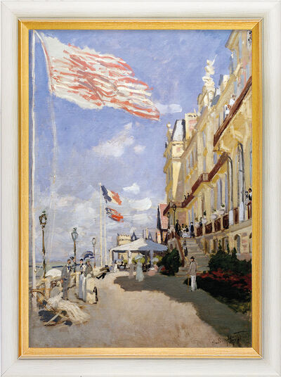 """Claude Monet: Bild """"Das Hotel des Roches Noires in Trouville"""" (1870), gerahmt"""