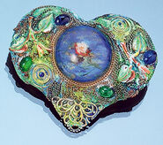 Brooch / pendant 'Heart of Impressionism'