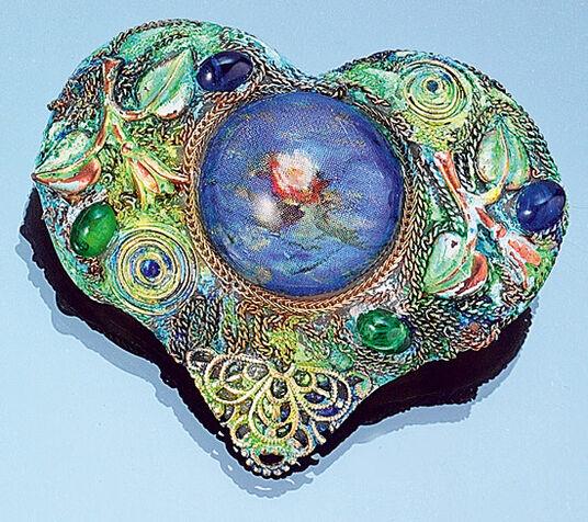 Petra Waszak: Brooch / pendant 'Heart of Impressionism'