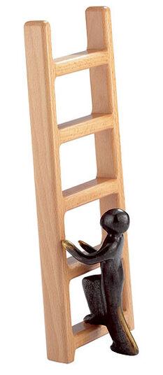 Kerstin Stark: Sculpture 'Career Ladder', bronze with beech wood
