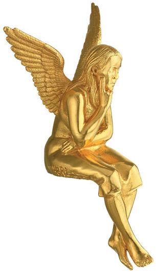 """Ottmar Hörl: Skulptur """"Schutzengel"""", Version vergoldet (ohne Sockel)"""