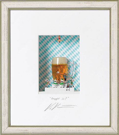 """3D-Painting """"Ozapft is"""", Framed"""