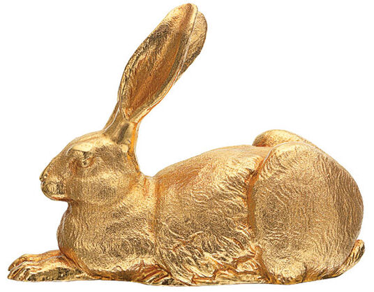 "Ottmar Hörl: Sculpture ""Dürer Hare"", version in gold-plated bronze"