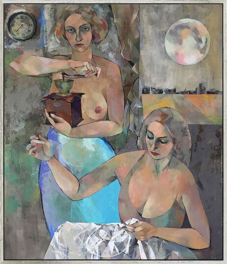 "Marina Krasnitskaya: Bild ""Lessons"" (2015) (Original / Unikat), gerahmt"