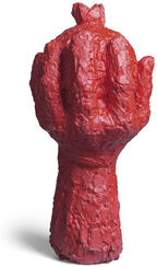 "Skulptur ""Rote Hand"" (2016)"