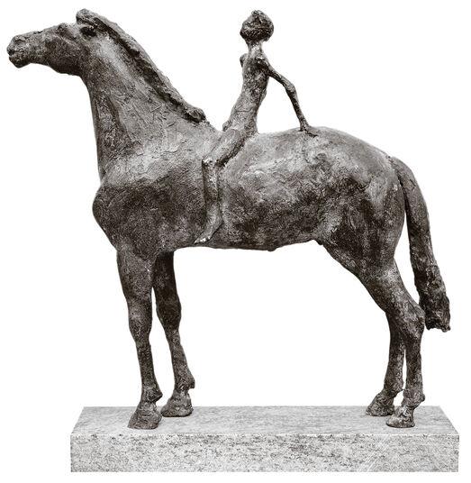 """Thomas Jastram: Skulptur """"Kleiner Reiter 2. Variante"""" (1997), Bronze"""