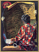"""Bild """"Die Übungsstunde"""" (2007), gerahmt"""