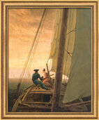 "Art print ""On the Sailboat"" (1818), framed"
