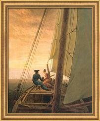 """Art print """"On the Sailboat"""" (1818), framed"""